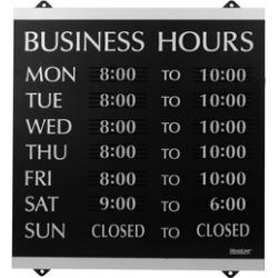 Headline Sign HeadLine Century Series 14x13 Inch Business Hours Sign