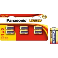 Panasonic Lithium CR123A Batteries (6- or 12-Pack)
