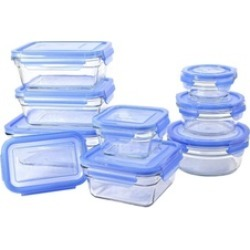 18 Piece Oven Safe Assortment Set, Blue