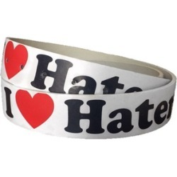 I Love Haters Genuine Leather Belt for Men & Women