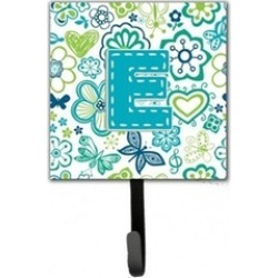 Carolines Treasures CJ2006-ESH4 Letter E Flowers And Butterflies Teal Blue Leash