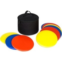 9-Piece Portable Lawn Games Disc Golf Set w/ Carrying Bag - Multicolor
