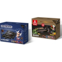 Sega Genesis Flashback or Atari Flashback 9 Gold Console with Wireless Controllers and HDMI Cable