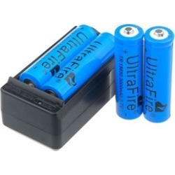 3000mAh 18650 Battery 3.7v Li-ion Rechargeable Battery and Charger (Set of 4)