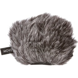 Movo Furry Microphone Windscreen for Zoom & Tascam Portable Recorders