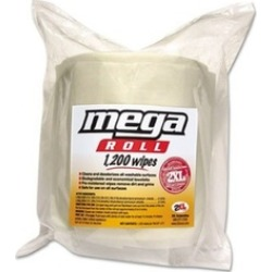 TXL L420 8 x 8 in. Mega Roll Wipes Refill, White - 1200 per Roll, Roll