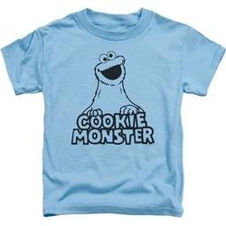 Sesame Street TV Show Vintage Cookie Monster Little Boys Tee