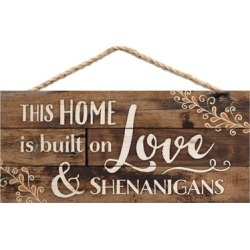 This Home is Built on Love Distressed Look Wood Plank Home Decor