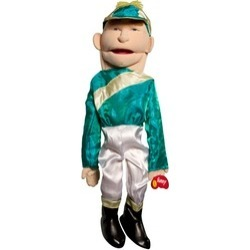 Sunny Toys GS2817 28 In. Jockey, Sculpted Face Puppet