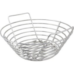 Kick Ash Basket KAB-SM-SS Charcoal Grate, Stainless Steel, Silver