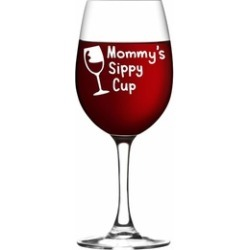 Mommy's Sippy Cup Wine Glass, New Mom Gift,
