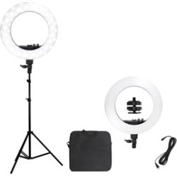 "18"" Ring Light Kit Stand w/Carry Bag"