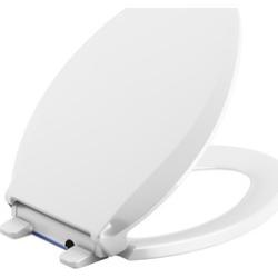 KOHLER 75796-0 Nightlight Quiet-Close Elongated Toilet Seat, White