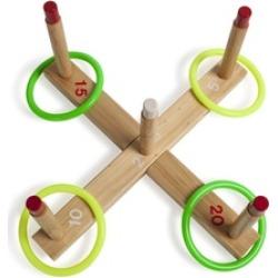 Champion Sport QS1 Ring Toss Set, Plastic-Wood, Assorted Colors