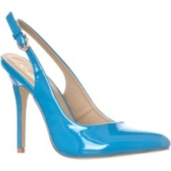 Riverberry 'Lucy' Pointed-Toe Sling Back Pump Heels, Blue Patent