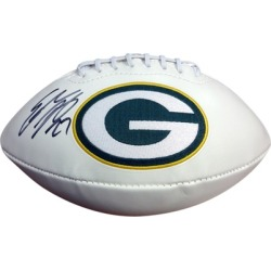 Autographed Eddie Lacy Green Bay Packers White Logo Football