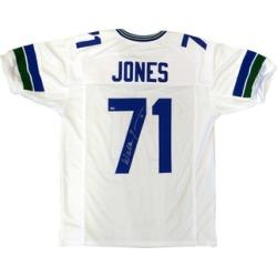 Autographed Walter Jones Seattle Seahawks White Custom Jersey