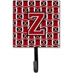 Carolines Treasures CJ1073-ZSH4 Letter Z Football Red Black & White Leash