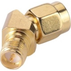 SMA Male to Female 45 Degree Antenna Adapter Gold Plated Connector