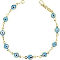Exquisite Gold Plated for Ladies Greek Eye Tennis Bracelet