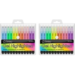 Thornton's Office Supplies Twist-Retractable Gel Highlighters (24-Count)
