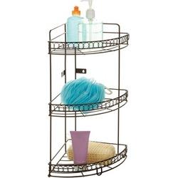 Bath Bliss 3-Tier Curl-Design Corner Bath Shelf