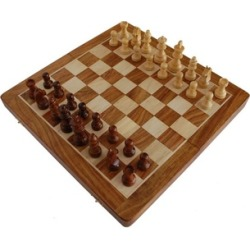 Best Chess Set Rosewood Travel Chess Game Board, Handmade Wooden Chess