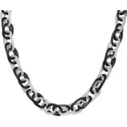Metro Jewelry Stainless Steel Two Tone Rolo Chain Necklace