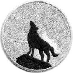 Easy to Use Wolf - Full Moon Embroidered Iron On Patch