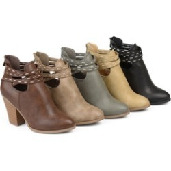 Journee Collection Womens Stacked Heel Strappy Booties