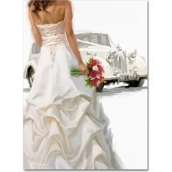 The Macneil Studio 'Bride And Car' Canvas Art