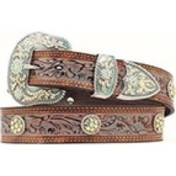 Nocona Belt N3411208-S 1.5 in. Womens Concho Accent Painted Leather Western Belt