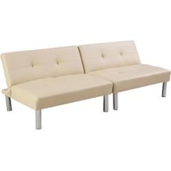 Folding PU Leather Futon Convertible Sofa Sleeper Bed Living Room