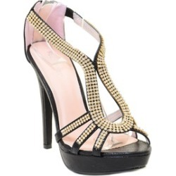 Rhinestone Evening Platform Sandal Formal Women's Heels
