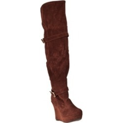 Riverberry Women's 'Charli' Over-the-knee Platform Boots, Tobacco