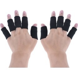 10Pcs Finger Bands Brace Support Sleeve Gym Volleyball Basketball