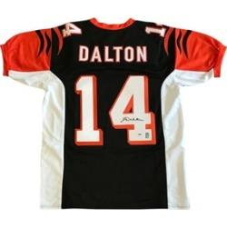 Autographed Andy Dalton Custom Black Jersey