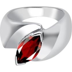 Orchid Jewelry 925 Sterling Silver 1 4/5 Carat Garnet Birthstone Ring
