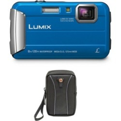 Panasonic LUMIX Active Lifestyle Tough Digital Camera (Blue) & Swiss Gear Case