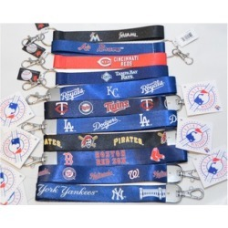 Official Licensed MLB Wristlet Lanyard Keychain Key Ring Durable nylon