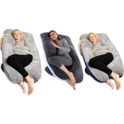 Pregnancy Pillow U Shaped Comfortable Soft Crystal Velvet Whole Body Pillow