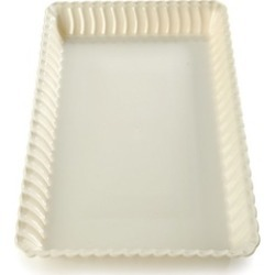 Fineline Settings 293-CL Flairware 9 in. x 13 in. Clear Serving Tray