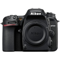 Nikon D7500 DX-Format DSLR Camera (Body Only, Black)