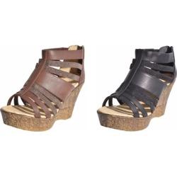 Multi Strap Platform Wedge Sandals