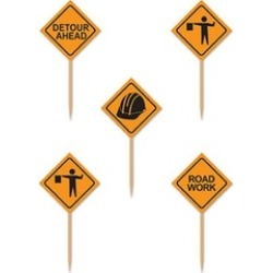 Beistle 60080 Construction Signs Picks pack Of 12