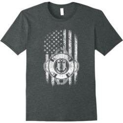 Boating T-Shirt USA American Flag and Anchor