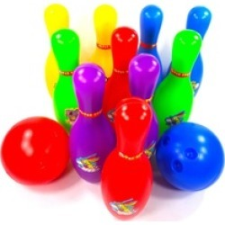 Bowling Toy Set Colorful Plastic Bowl Play Set For Kids