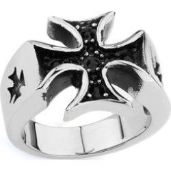 Iron Cross Ring w  Stones
