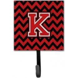 Carolines Treasures CJ1047-KSH4 Letter K Chevron Black & Red Leash or Key Holder