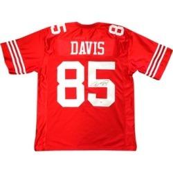 Autographed Vernon Davis San Francisco 49ers Red Custom Jersey